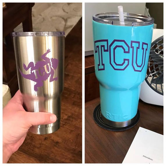 TCU decal, football decal, Texas decals, Frog decals, horned frogs decal, sports decals, yeti decals Football, Texas football decals, purple