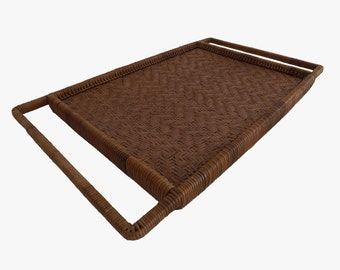 Fine woven rattan - braided rattan Platter tray