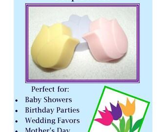 30 Tulip Soap Favors, Flower Garden Party, Floral Favors, Baby Shower Favor, Bridal Favor, Flower Party Favor, Tulip Favor, Tulip Soaps