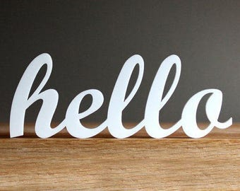 Hello Sign - Wooden Hello Sign - Wood Hello Sign - Wall Decor - Home Decor - Wall Hanging - Hello Beautiful