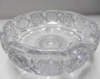 Brilliant Cut Crystal Ashtray