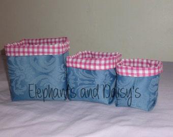 Fabric Baskets ITH Design file