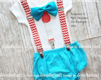 Dr seuss Birthday cat in the hat outfit cake smash thing 1 2 diaper Cover bow tie red chevron suspenders invitation prop 9 12 18 24 toddler