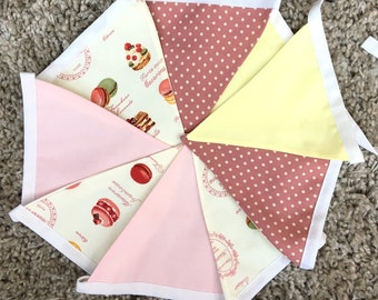 Macaroon / French Patisserie Fabric Bunting