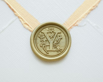 Y Letter Wax Seal | Initial Wax Seal Stamp