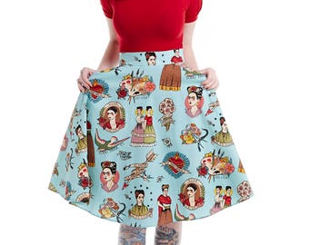Blue Frida Swing skirt
