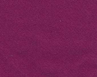 Cotton Lycra Spandex Knit Jersey Fabric 10 oz - by the yard - Dk. Magenta(349)