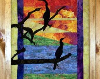 Sunset Silhouettes - Applique-  Art Quilt PDF E-Pattern