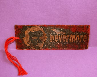 Nevermore Bookmark - Etched Copper - Edgar Allen Poe