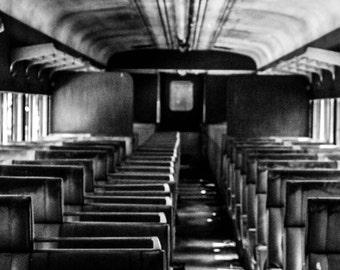Fine Art Photography, Abandoned Train, Black and White Photography, New Hope, Pennsylvania, Bucks County PA., Wall Art