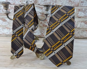 Vintage Mens Tie sixties Textura