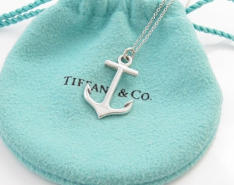 HTF VERY RARE Authentic Retired Tiffany & Co. Sterling Silver Anchor Necklace