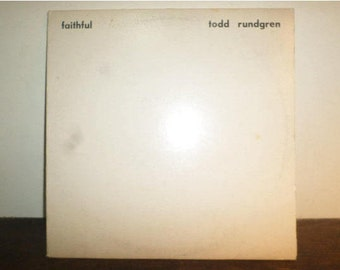 Vintage 1976 Vinyl LP Record Faithful Todd Rundgren Textured Cover Very Good Condition 9546