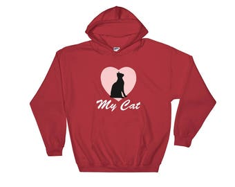 Love My Cat Hooded Sweatshirt