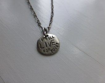 I will live for today, recovery, survivor, one day at a time, recovery for him her, eating disorder, hand stamped, focus mindfulness, now