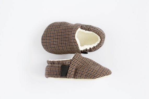 Brown and black baby boy shoes, baby moccs, toddler and pre walker shoe