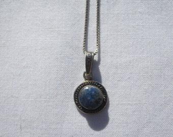 Lapis Lazuli Stone Sterling Pendant