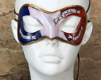 French Revolution Leather Mask