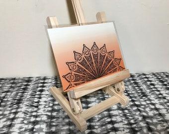 Sunset - Pattern over Orange - Art Print