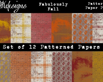 Fabulously Fall Patterned Paper Pack