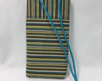 """Cell Phone Pouch, Cross body Phone Pouch  7"""" x 4"""" x 3/4"""""""