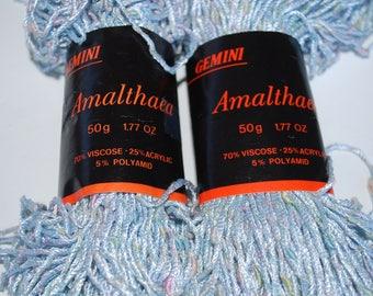 2 skeins  Gemini Amalthaea yarn