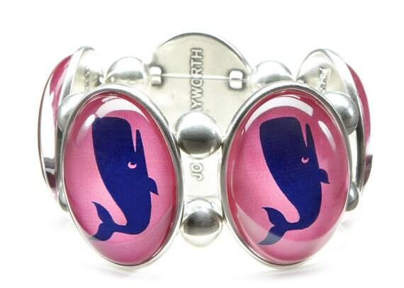 Preppy Pink Whale Stretch Bracelet