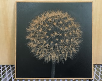 Dandelion Image Engraving with Amazing Details
