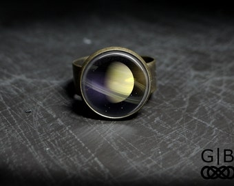 Saturn Ring Planet Saturn Ring Jewelry - Saturn Planet Rings - Solar System Rings - Solar System Saturn Ring - Planet Saturn Adjustable Ring