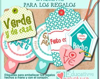 Etiquetas imprimibles para regalo -español-