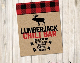Lumberjack Food Bar Sign, Lumberjack Shower, Lumberjack Party, Lumberjack Food Sign, Lumberjack Sign