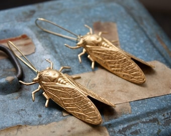 Cicada Metamorphosis Insect Earrings