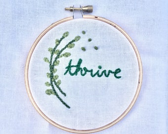 Thrive Embroidery Wall Décor
