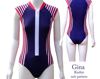 Gina Rashie suit pattern Women size XS to 3XL