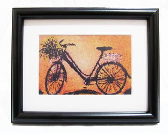 Vintage Bike - Art print From Original painting with Frame