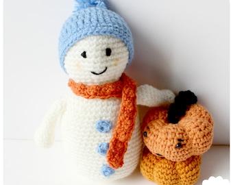 Snowman Crochet Pattern PDF Instant Download
