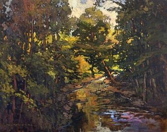 Warm Afternoon - Giclee Fine Art PRINT of Original Painting matted 16x20 by Jan Schmuckal