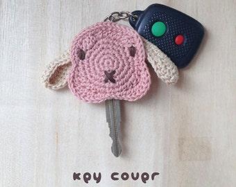 Crochet Pattern Rabbit Key Cover Bunny Applique Rabbit Lop Key Cap Bunny Key Marker Rabbit Key Chain Animal Applique Bunny Crochet Pattern
