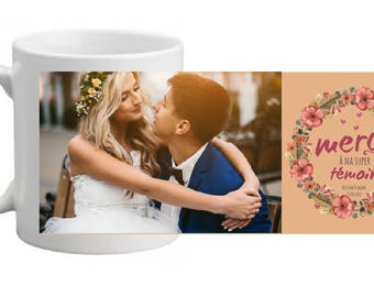 """CERAMIC MUG personalized """"witness gift"""" - fall special"""