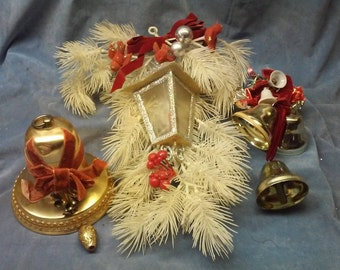 Vintage Christmas Home Decor, lot of 3 different displays.