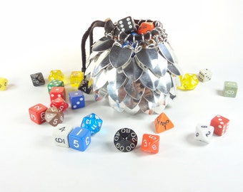 Dungeons And Dragons Large Dice Bag Scalemaille And Chainmaille Aluminum