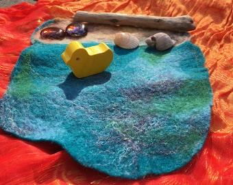Wool felt mini play mat | Ocean scene