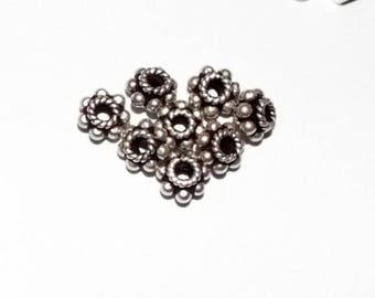 8 Bali Silver Spacer beads