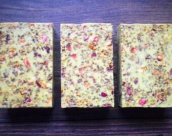 Pomegranate - Eucalyptus, Cream Soap: Goat Milk Soap, Body Scrub, Essential Oil Soap, Glycerin Soap, Handmade Soap Natural Soap Organic Soap