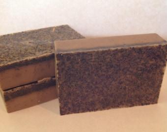 Lavender Latte Soap - Exfoliating Soap - Natural Soap - Invigorating Soap - Latte Soap - Coffee Soap - Lavender Soap