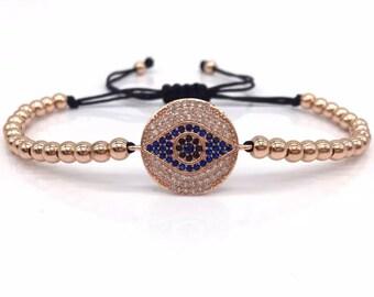 Swarovski hamsa & evil eye bracelets
