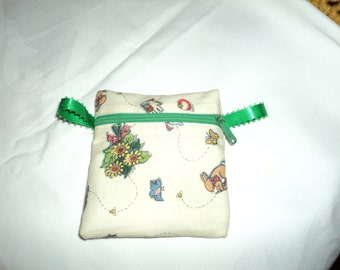 Handy zippered purse pouch make up case Gardener's Delight
