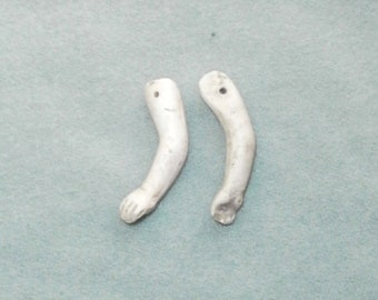"""dollhause doll arms, bisque/ 1.7"""", 0.37""""/antique/ Germany"""
