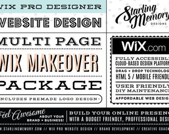 Wix Website MAKEOVER Multi-Page Package - Includes PreMade Logo - Wix WebDesign Package - Wix Pro - Wix Website Revamp - Wix Pro