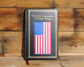 Book Safe - The US Constitution and Other Writings - Leather Bound Hollow Book Safe